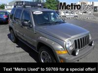 One-owner! This 2005 Liberty is for Jeep lovers looking
