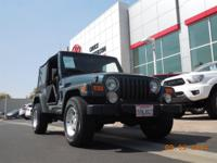 This 2005 Jeep Wrangler Sport Includes 4WD Low miles