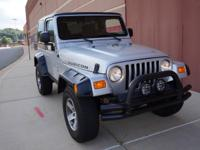 2005 Jeep Wrangler Rubicon with 133,037 miles, clear