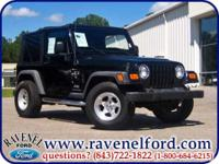 Options Included: 2005 Jeep Wrangler Tj X 4x4 ** Six