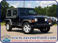 Options Included: 2005 Jeep Wrangler Tj X 4x4 **