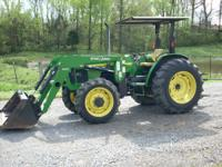2005 JD 5420, 4X4, LOADER, 1,510 HOURS, SYNCRO SHIFT,