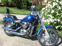 Real clean Candy Thunder Blue 2005 Kawasaki Vulcan
