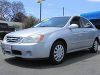 This 2005 Kia Spectra 4dr 4dr Sdn LX Car Car showcases