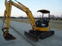 2005 PC35MR Komastu rubber track mini excavator, with