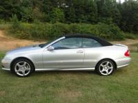 Well kept 2005 CLK 500 Cabriolet Convertible. Silver