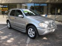 Options Included: N/A2005 Mercedes ML350, 6 cylinder,