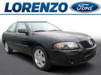 Options:  2005 Nissan Sentra 1.8|Black/Taupe|V4 1.8L