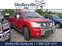 Clean CARFAX. Red 2005 Nissan Titan SE 4WD 5-Speed IK