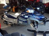 I'm selling a 2005 Polaris Fusion 900 with 2450 miles.