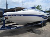 Beautifully kept 2005 Rinker Captiva 232 boat with blue