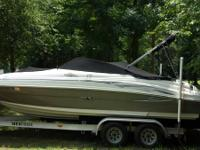 2005 Sea Ray Sundeck 220  Pewter/cream in color.  5.0