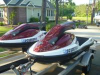 TWO - 2005 Seadoo 3D Waverunners/Jet Skis on a DOUBLE
