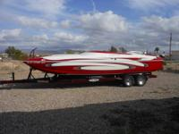 2005 SHOCKWAVE 26' CAT OPEN BOW/MID CABIN, 496 HO 425