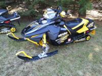 2005 Ski doo Mach Z Snowmobile.  New engine with approx