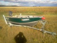 2005 star craft 14 foot aluminum boat with trailer