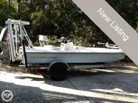 Clean 2005 Sterling 18 flats boat with a 2005 Yamaha