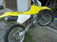 2005 Suzuki drz250 dirt bike. New clutch and
