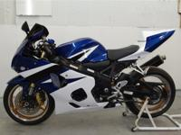 2005 Suzuki GSXR 750 street bike. Bike is currently at
