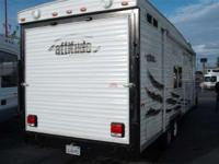 A Great Toy Hauler This toy Hauler travel trailer has a