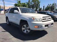 WHITE 2005 Toyota 4Runner Limited V6 4WD 5-Speed