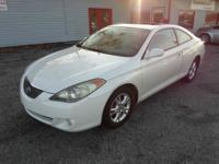 2005 TOYOTA SOLARA SLE WHITE ON TAN AUTOMATIC WITH ONLY