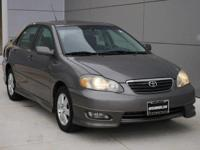 Options:  2005 Toyota Corolla S|Phantom Gray