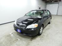 Options:  2005 Toyota Corolla|Black|Gasoline! Talk