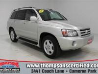 This 2005 Highlander Limited AWD is a top