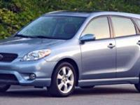 Only 100,807 Miles! This Toyota Matrix boasts a Gas I4
