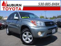 4WD, ROOF RACK, ONE OWNER! This great 2005 Toyota RAV4
