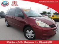 Recent Arrival! 2005 Toyota Sienna LE Red ** REAR DVD