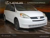 CARFAX One-Owner. 2005 Toyota Sienna Natural White 3.3L