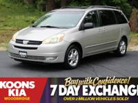 2005 Toyota Sienna XLE Silver Shadow Pearl ABS brakes,