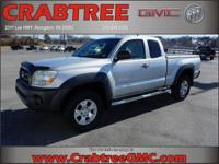 Options:  2005 Toyota Tacoma Base|4Dr Access Cab 4Wd