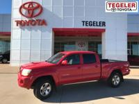 2005 Toyota Tacoma Base V6 Red 4WD 5-Speed Automatic