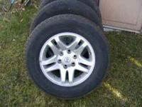 Set of 4 Toyota Tundra wheels and tires, Bridgestone