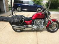 2005 Triumph Rocket III in really good condition. Red