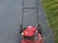 for sale troy bilt push mower runs and cuts good