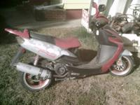 2005 Vento scooter.Red and silver.Needs some paint
