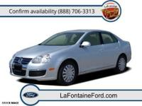 Local Trade and Clean Carfax. Jetta 2.5, 4D Sedan, 2.5L