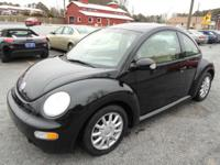 2005 VOLKSWAGEN BETTLE GLS BLack ON TAN AUTOMATIC WITH