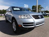Spotless, ONLY 34,788 Miles! Touareg trim, Blue Silver