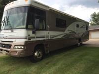 This is a 2005 Winnebago Adventurer 38J Class A