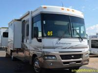 2005 Winnebago Adventurer 35A, w/ 3 Power Slides on a
