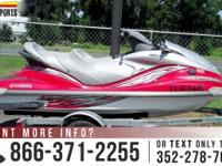 2005 Yamaha Waverunner. Exterior Shade: RED. VIN: