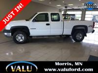 1-Owner! 4WD Silverado 2500HD Ext Cab work truck w 6.0L