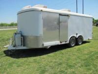 Could be concession trailer camping trailer. Cargo