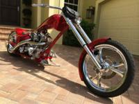 The bike is a Thunder Cycle Designs/Eddie Trotta