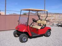 2005 EZ-GO gas golf cart Roof, split windshield, new